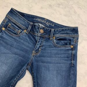 American eagle kicky bootcut mid wash jeans